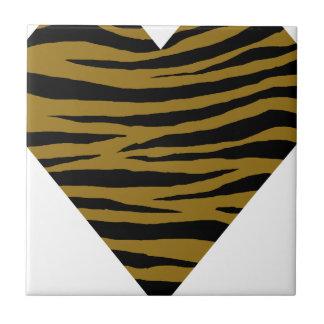 Graubraune Tiger Handhabung am Boden Kleine Quadratische Fliese