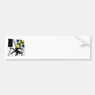 Graubuenden wellenartig bewegende Flagge Autoaufkleber