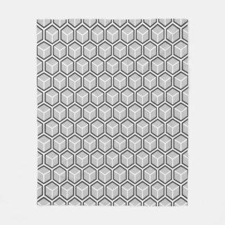 Graue Bienenwaben-Muster-Fleece-monodecke Fleecedecke