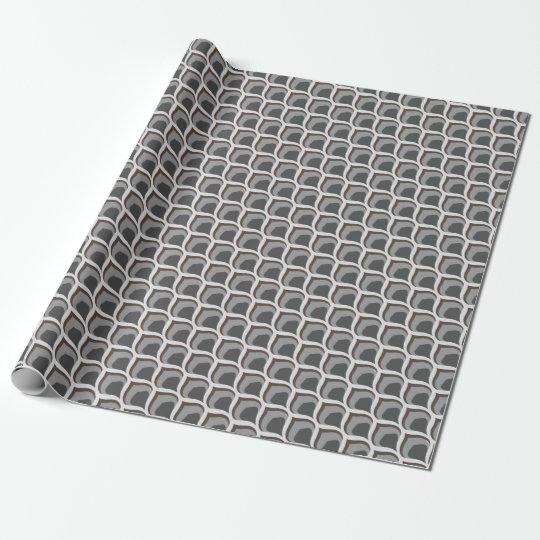 graue geometrische Tropfen Geschenkpapierrolle