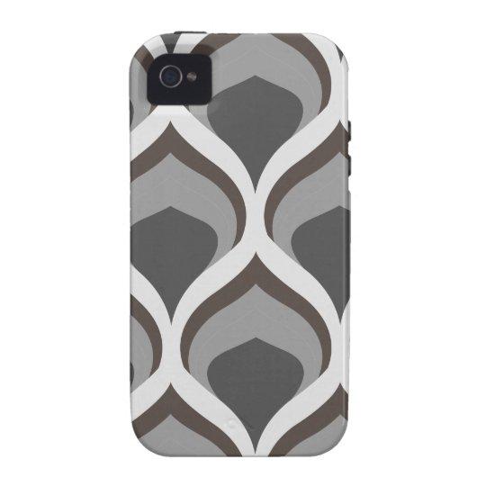 graue geometrische Tropfen iPhone 4 Case