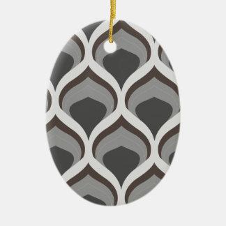 graue geometrische Tropfen Keramik Ornament