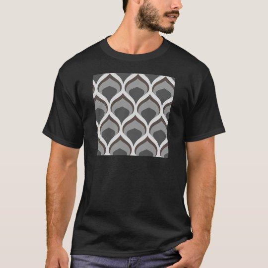 graue geometrische Tropfen T-Shirt