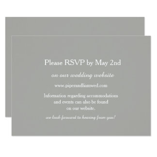 Graue Hochzeits-Wartekarte 8,9 X 12,7 Cm Einladungskarte