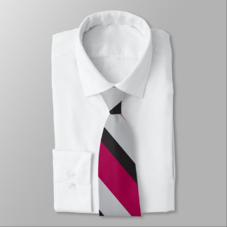 Graue Holzkohle u. tiefe Himbeere Bedruckte Krawatten