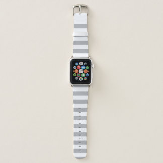 Graue horizontale Streifen Apple Watch Armband
