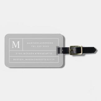 Graue moderne Linien | Gepäckanhänger