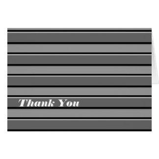 Graue schwarze Streifen-Gewohnheit danken Ihnen zu Mitteilungskarte