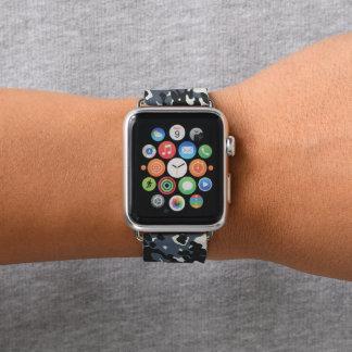 Graue schwarze Tarnungs-Camouflage Apple Watch Armband