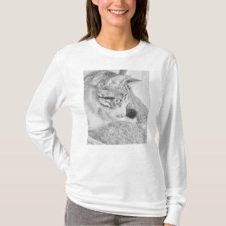 Graue Skala-Katze T-Shirt