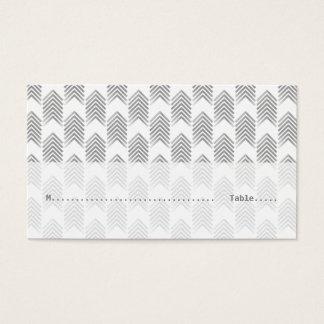 Graue Stammes- Pfeile, die Platzkarten Wedding Visitenkarte