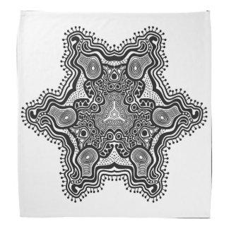 Graue Sternchen-Vereinbarung auf weißem Halstücher