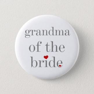 Graue Text-Großmutter der Braut Runder Button 5,1 Cm