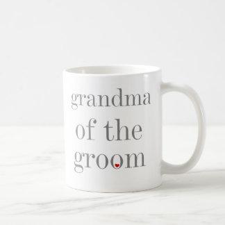 Graue Text-Großmutter des Bräutigams Kaffeetasse