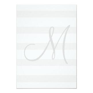 Graue und weiße Streifen-Hochzeits-zuersteinladung 12,7 X 17,8 Cm Einladungskarte