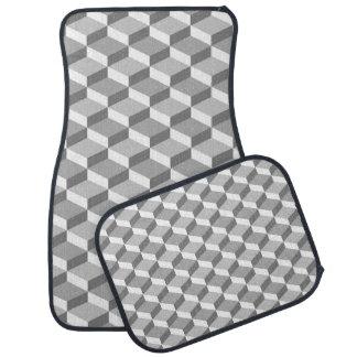 Graue und weiße Täuschungs-geometrische Quadrate Automatte