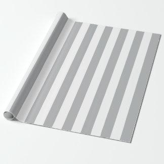 Graue vertikale Streifen Geschenkpapier