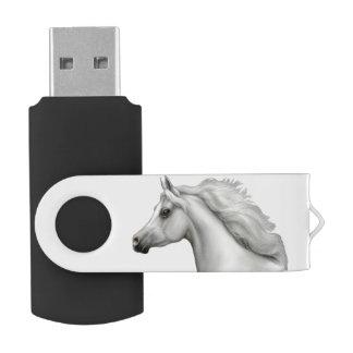 Grauer arabischer Pferd-USB-Blitz-Antrieb USB Stick