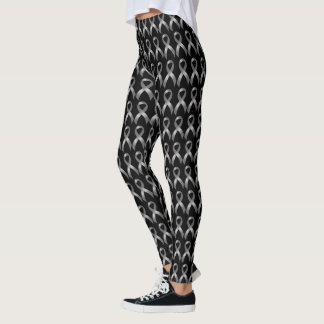 Grauer Band-Hirntumor-Krebs u. Diabetes Leggings