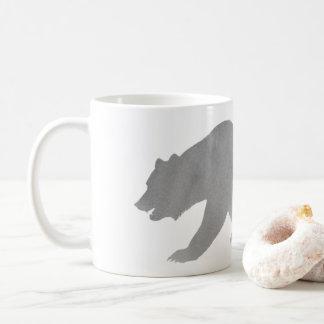 Grauer Bärwatercolor-Kaffee-Tassen-AlaskaGrizzly Kaffeetasse