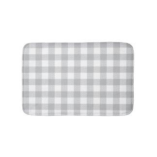 Grauer Büffel-karierte Checkered Muster-Wolldecke Badematte