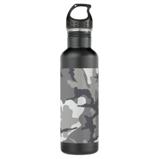 Grauer Camouflage-Stahl 24 Unze. Wasserflasche