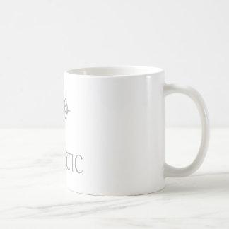 Grauer Celtic mit Kreuz Kaffeetasse