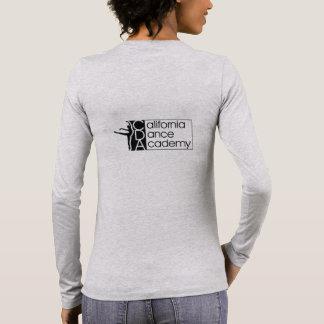 Grauer langer die Hülsen-T - Shirt der Frauen mit