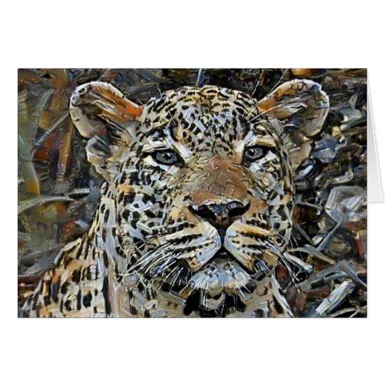 Grauer mit Augen Leopard Karte