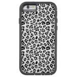 Grauer schwarzer Leopard-Tierdruck PatternGray, Tough Xtreme iPhone 6 Hülle