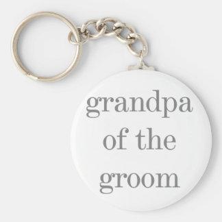 Grauer Text-Großvater des Bräutigams Schlüsselanhänger