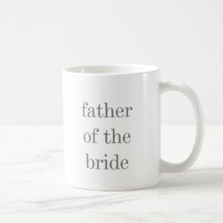 Grauer Text-Vater der Braut Kaffeetasse