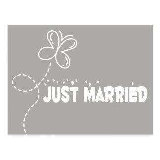 Grauer u. Weiß-gerade verheirateter Schmetterling Postkarte