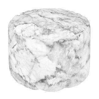 Grauer u. weißer Imitat-Marmor-Druck Runder Sitzpuff