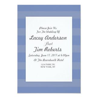 Grauer und blauer 12,7 x 17,8 cm einladungskarte