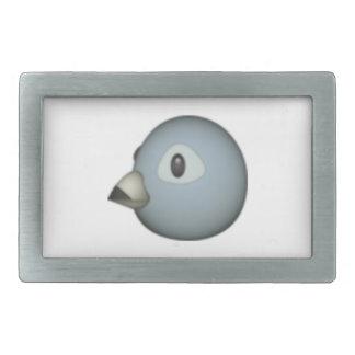 Grauer Vogel - Emoji Rechteckige Gürtelschnallen