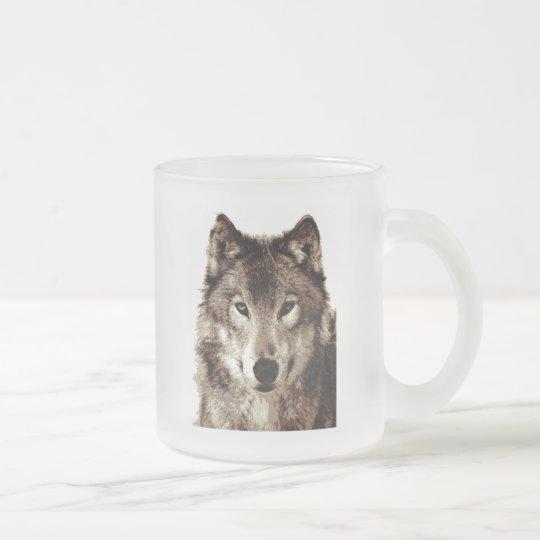 Grauer Wolf Matte Glastasse