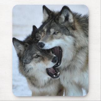 Grauer Wolf Mauspads
