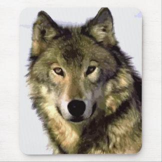 Grauer Wolf Mousepad