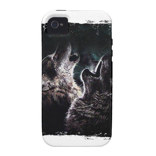 GRAUER WOLF-WOLF-WILD LEBENDE TIERE iPhone 4 HÜLLE