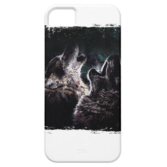 GRAUER WOLF-WOLF-WILD LEBENDE TIERE iPhone 5 ETUI
