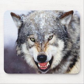 Grauer Wolf-Zähne Mauspads