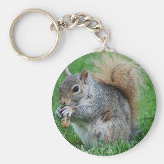 Graues Eichhörnchen Keychain Schlüsselanhänger