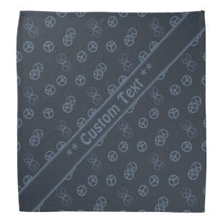 Graues Friedenszeichen-Muster mit Kopftuch