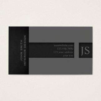 Graues Monogramm Visitenkarte