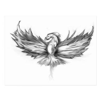Graues Phoenix-Steigen Postkarte