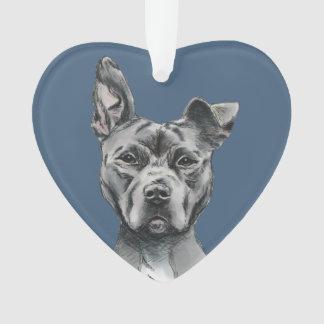Graues Stalky Gruben-Stier-Hundezeichnen Ornament