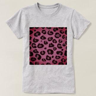 Graues T-Shirt der Designer mit Leopardmuster