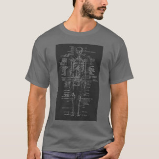 graues Tafelart-Skelett-Shirt T-Shirt