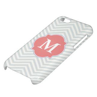 Graues u. helles korallenrotes modernes Zickzack iPhone 5C Cover